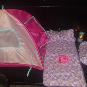 Our Generation Tent and Slumber Bag Set for 18 inc